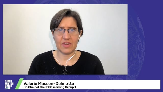 A call to action from Dr Valérie Masson-Delmotte, Co-Chair of IPCC Working Group I