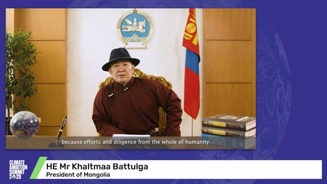 HE Mr Khaltmaa Battulga<br>President of Mongolia