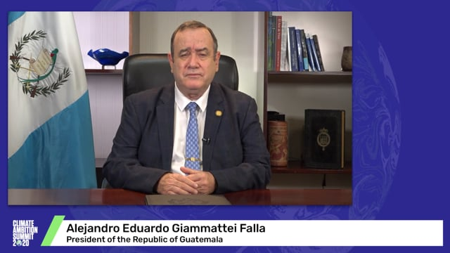 Alejandro Eduardo Giammattei Falla<br>President of the Republic of Guatemala