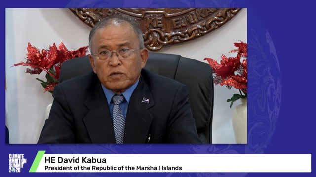 HE David Kabua<br>President of the Republic of the Marshall Islands