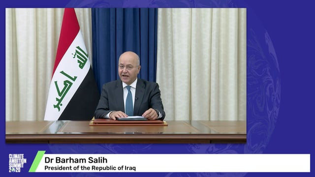 Dr Barham Salih<br>President of the Republic of Iraq