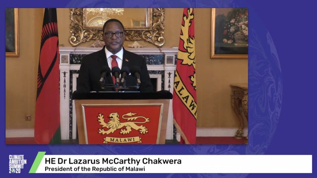 HE Dr Lazarus McCarthy Chakwera<br>President of the Republic of Malawi