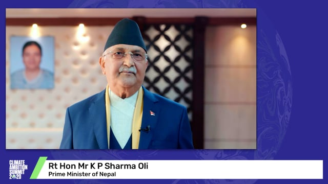 Rt Hon Mr K P Sharma Oli<br>Prime Minister of Nepal