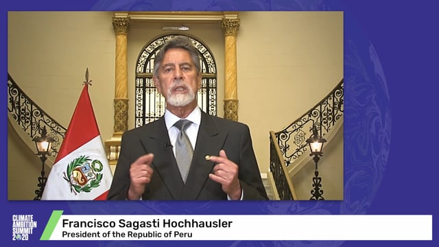 Francisco Sagasti Hochhausler<br>President of the Republic of Peru