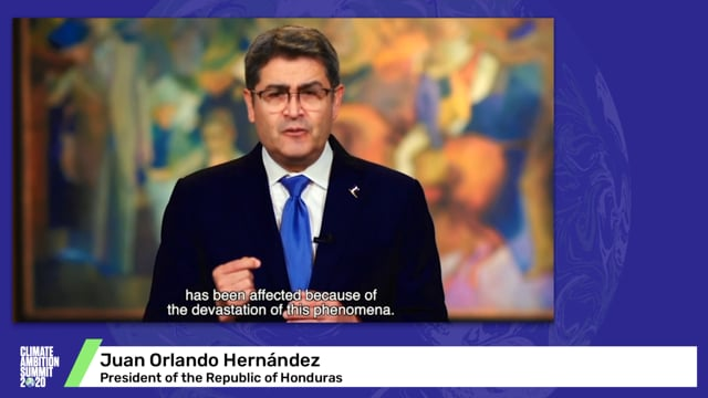 President Juan Orlando Hernandez talks about the impacts of Hurricanes Eta and Lota in Honduras