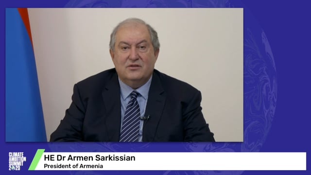 HE Dr Armen Sarkissian<br>President of Armenia