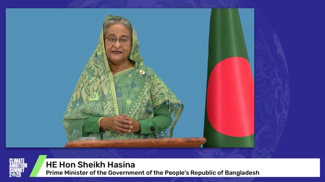 HE Hon Sheikh Hasina<br>Prime Minister of the Government of the People's Republic of Bangladesh