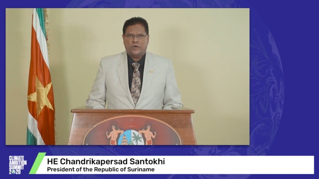 HE Chandrikapersad Santokhi<br>President of the Republic of Suriname