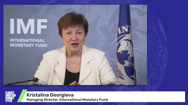 Kristalina Georgieva<br>Managing Director of the International Monetary Fund