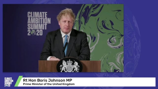 Rt Hon Boris Johnson MP<br>Prime Minister of the United Kingdom